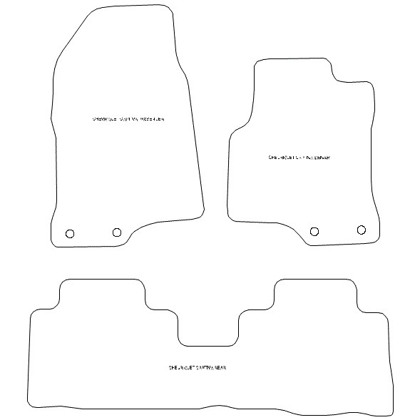 Chevrolet Captiva 5 Seater Car Mats 1391c Your Car Parts